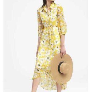 Banana Republic Floral Maxi Shirt Dress
